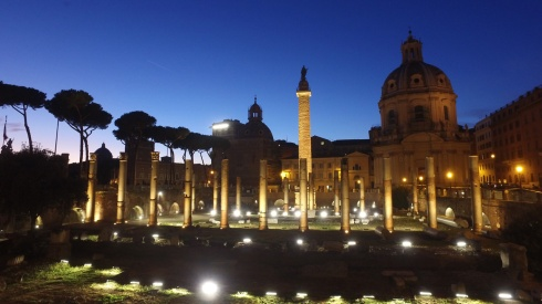 Trajan's Forum, part of RomeCabs Rome by Night Tour